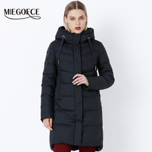 ICEbear Slim Short Coat Bio Down Jacket Winter Double Breasted Women's Cotton Parka