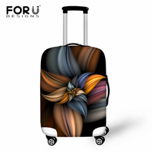 FORUDESIGNS Travel Suitcase Cover Flower Elastic Luggage Protective Cover Dustproof Baggage Cover Fashion Travel Accessories