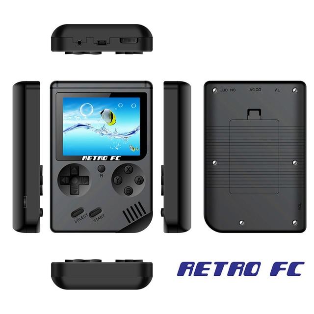Children Retro Mini Portable Handheld Game Console Players 3.0 Inch Black 8 Bit Classic Video Handheld Game Console RETRO-FC  07 4