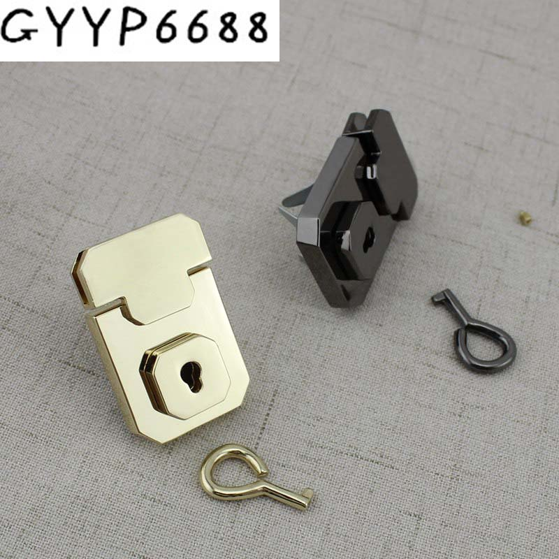 15sets High Quality Lock For Bags Press Lock With Key For Genuine Leather Suitcase Briefcase Bags Lock