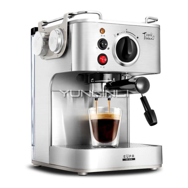 Coffee Machine Italian 19 Bar Semi Automatic Milk Frother Coffee Maker Manual Grinding Espresso Machine Cafetera