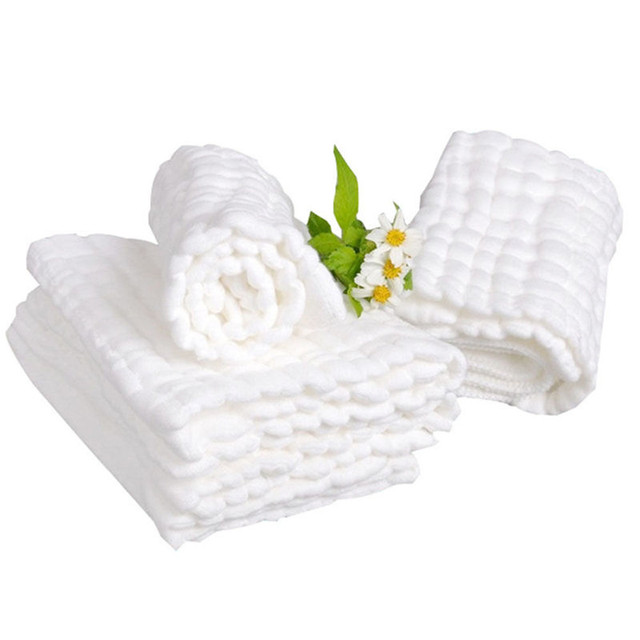 Ultra Soft Face Towel Made of 100% Cotton Gauze for Sensitive Skin