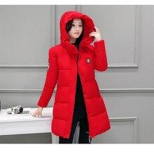 2017 New Hooded Parkas Female Women Winter Coat Thickening Cotton Winter Jacket Womens Outwear Parkas for Women Winter Outwear
