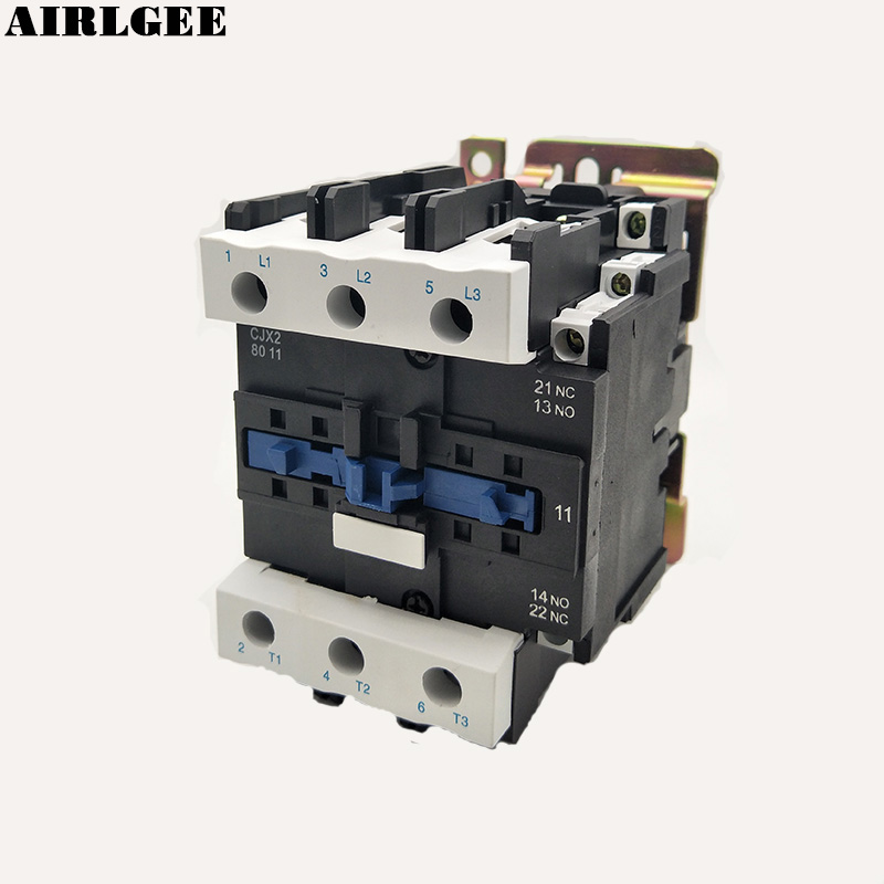 380V Rated Coil Voltage 3 Phase 1NO+1NC CJX2-8011 Alternating Current AC Contactor sayoon dc 12v contactor czwt150a contactor with switching phase small volume large load capacity long service life
