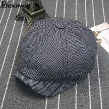 Cappuccio Ottagonale Grande formato Berretti A Spina di Pesce Gatsby Tweed  cap pittore Tappo Strillone Berretto 28b0b0483d24