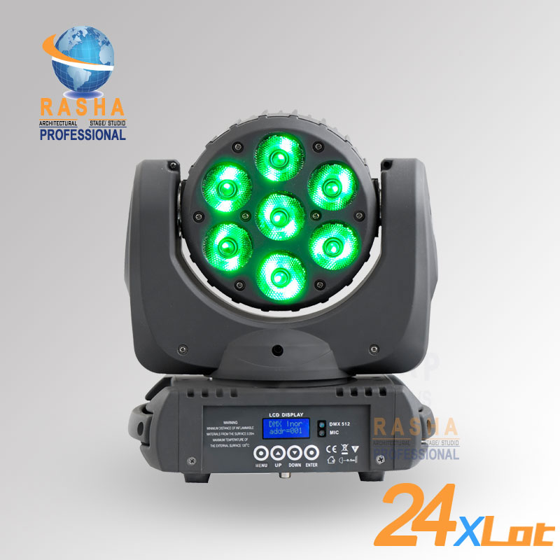 20X LOT HOT SALE 7pcs*12W Stage LED RGBW 4in1 LED Moving Head Beam,Super Sharpy Beam Light With LCD Display,Powercon,110-240V
