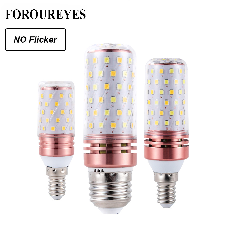 Lowest price 4pcs LED Corn Bulb E27 E14 SMD2835 No Flicker 8W 12W 16W 100V 240V Chandelier Candle LED Light For Home Decoration-in LED Bulbs & Tubes from Lights & Lighting