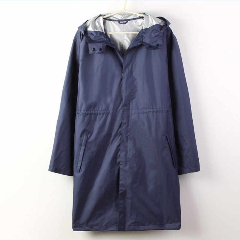 Erkekler Cep Uzun Yağmurluk Kapüşonlu Kadın Su Geçirmez Yağmurluk Su Geçirmez Yağmur Pelerin Yürüyüş Açık yağmurluk Ceketler Chuva 50yc18