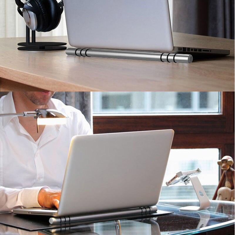 Portable Ordinateur Portable Support De Refroidissement Bâton Compatible Pour Macbook Por/Macbook Air Dissipateur de Chaleur En Aluminium Portable Stand Holder Support
