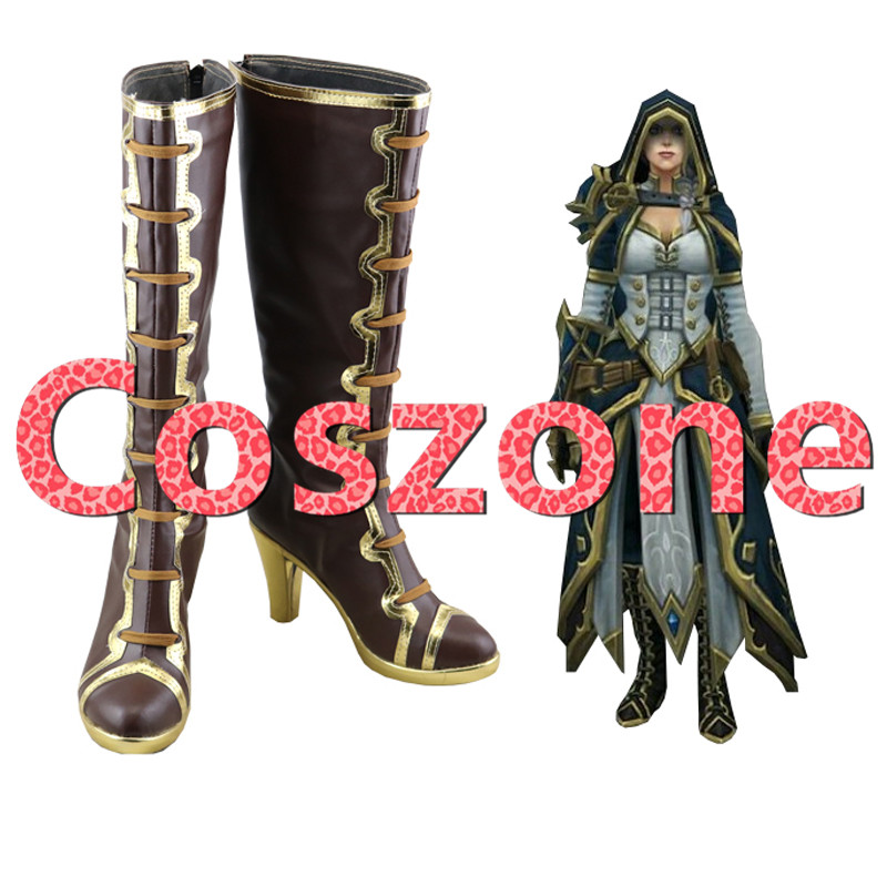 WOW Jaina Proudmoore Cosplay Shoes Boots Halloween Carnival Cosplay Costume Accessories
