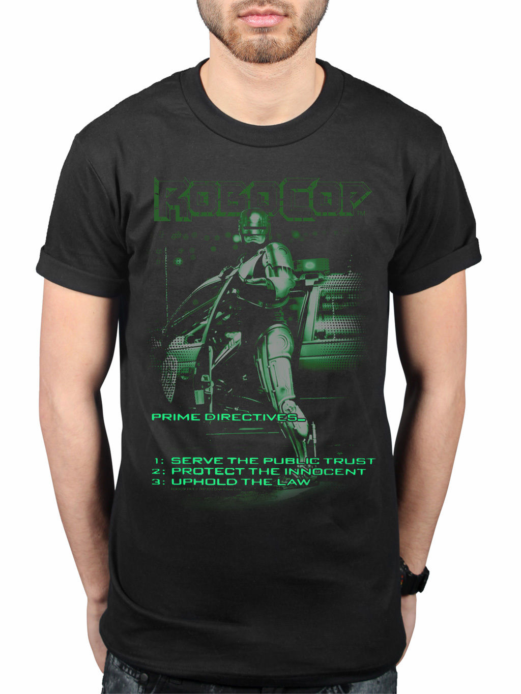 Robocop Uphold The Law Retro T-Shirt Movie Merchandise Sci-Fi Detroit ...
