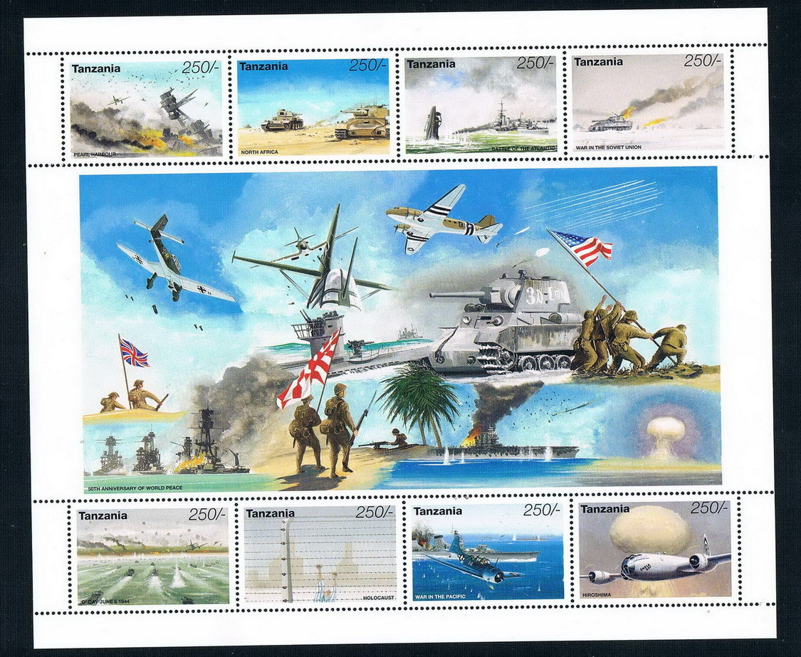 FA0546 Tanzania 1995 World War II Victory 50 anniversary tank fighter stamps 1MS NEW corporate real estate management in tanzania