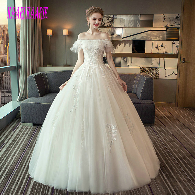 Gorgeous White Wedding Dress 2018 Ivory Wedding Gowns For Women