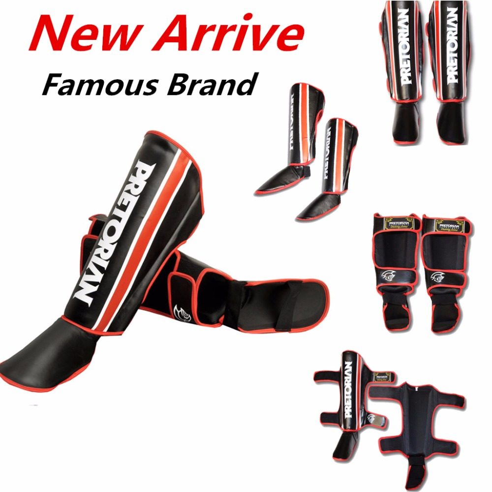 2016 Pretorian Best Shin Protectors Sanda Kick boxing Leggings Shin Pads Karate Ankle Guard Muay Thai MMA Fighting Shin Guards cool scorpion design die out vinyl sticker on car for vw polo golf mazda and so on fashion car side door decals labels
