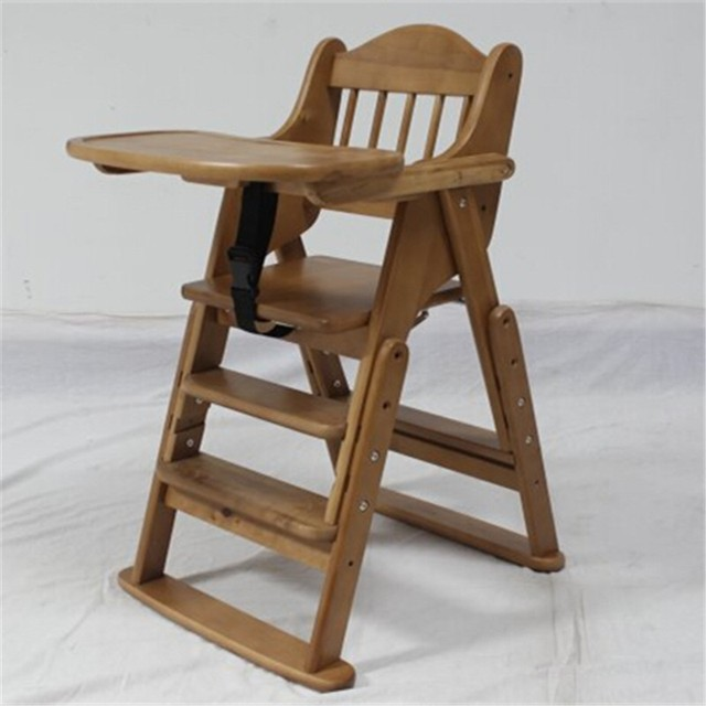Folding Wooden Baby Highchair High Chair Reclining Booster Seat Recliner Foldable : baby chair wooden - Cheerinfomania.Com
