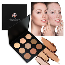 все цены на 9 Colors Glow Bronzer Contour Powder Palette Attractive Scenery Brand Make up Pallete Face Pressed Powder Or Can Be Used As Eyes онлайн