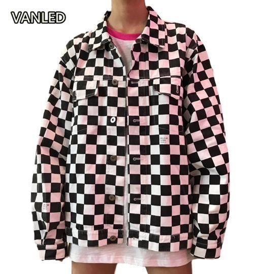 Harajuku Plaid Women's Jacket Loose Sings