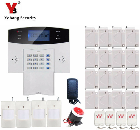 YoBang Security Wireless GSM Alarm System Security French Spanish Russian Voice SIM GSM Alarm System +PIR Detector Sensor Alarm russian french spanish voice prompt gsm sim home burglar security alarm system remote control kit infrared detector door sensor