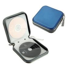 цена на 2019 Hot Portable 40pcs Capacity Disc CD DVD VCD Wallet DJ Storage Organizer Case Holder Album Bag FC55