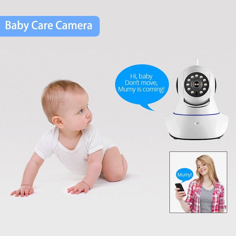 720P HD Wireless Indoor Sensors IP Camera Infrared Night Vision Audio Video Safety Monitoring Wifi Baby Monitor CCTV Camera