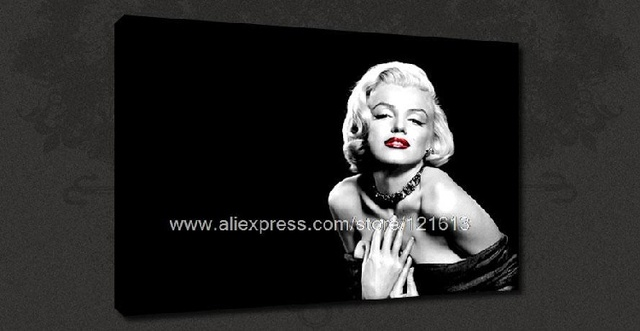 Marilyn Monroe Red Lips Retro Canvas Pop Art Poster Many To Choose Oil Paintings Picture