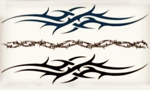 2 PACKS / LOT Black Water Stickers Metallic Decals Waterproof Tattoo ...
