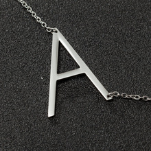 Small Letters Necklace Gold Color Initial Pendant Chain 45cm for Women,Stainless steel English Letter Jewelry Gift