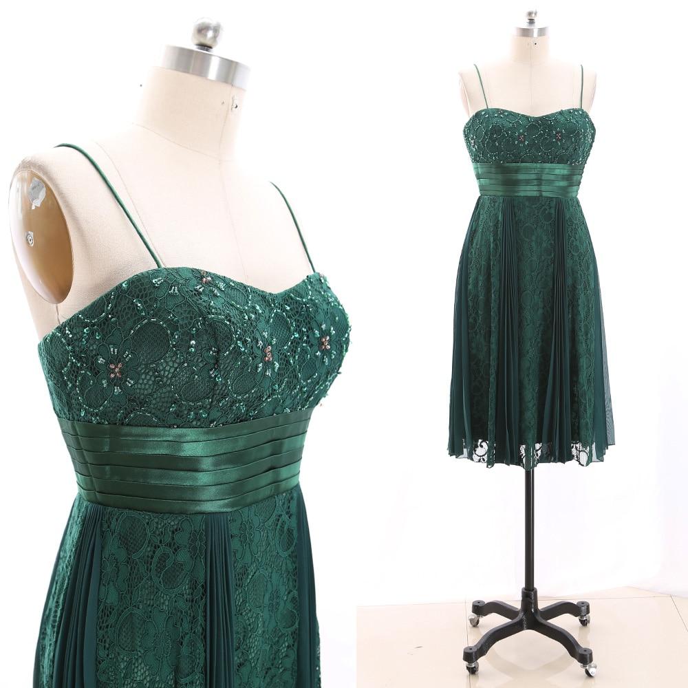 MACloth Dark Green Short Strap Floor-Length Long Beading Lace   Prom     Dresses     Dress   XL 265895 Clearance