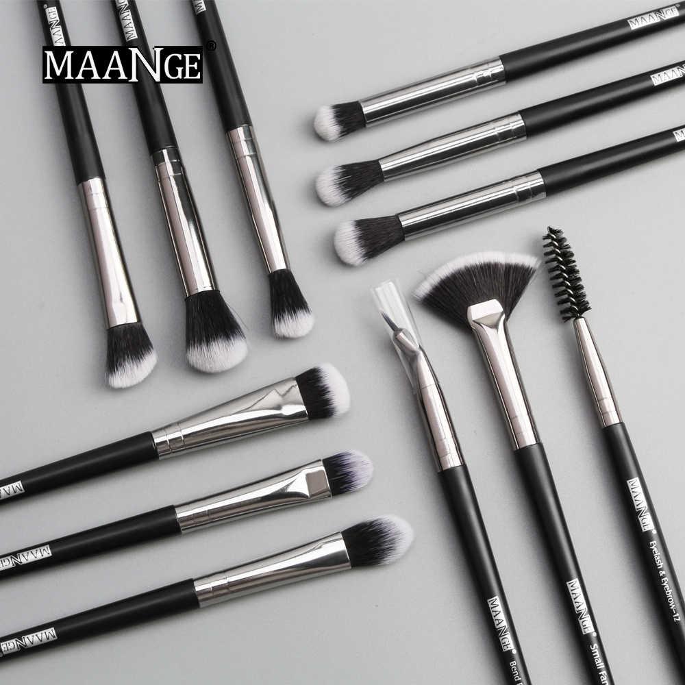 12PCS Pro Pincéis de Maquiagem Define Sombra Blending Eyeliner Cílios Sobrancelha Pincéis Para maquiagem Ouro Rosa Olho Jogo de Escova