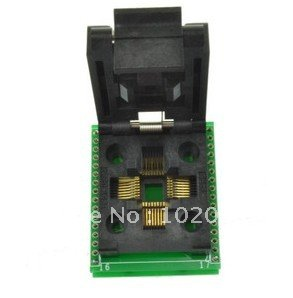 100% NEW IC51-0324-1498 QFP32 IC Test Socket / Programmer Adapter / Burn-in Socket (SA663) ic qfp32 programming block sa636 block burning test socket adapter convert