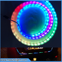 Car Styling RGB Undercarriage Floating Led Dynamic Streamer Turn Signal Tail LED Warning Lights Luggage Compartment