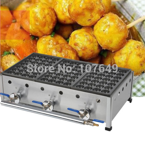 Commercial Use LPG Gas Japanese Octopus Balls Iron Baker Maker Machine commercial use non stick lpg gas japanese takoyaki octopus fish ball maker iron baker machine