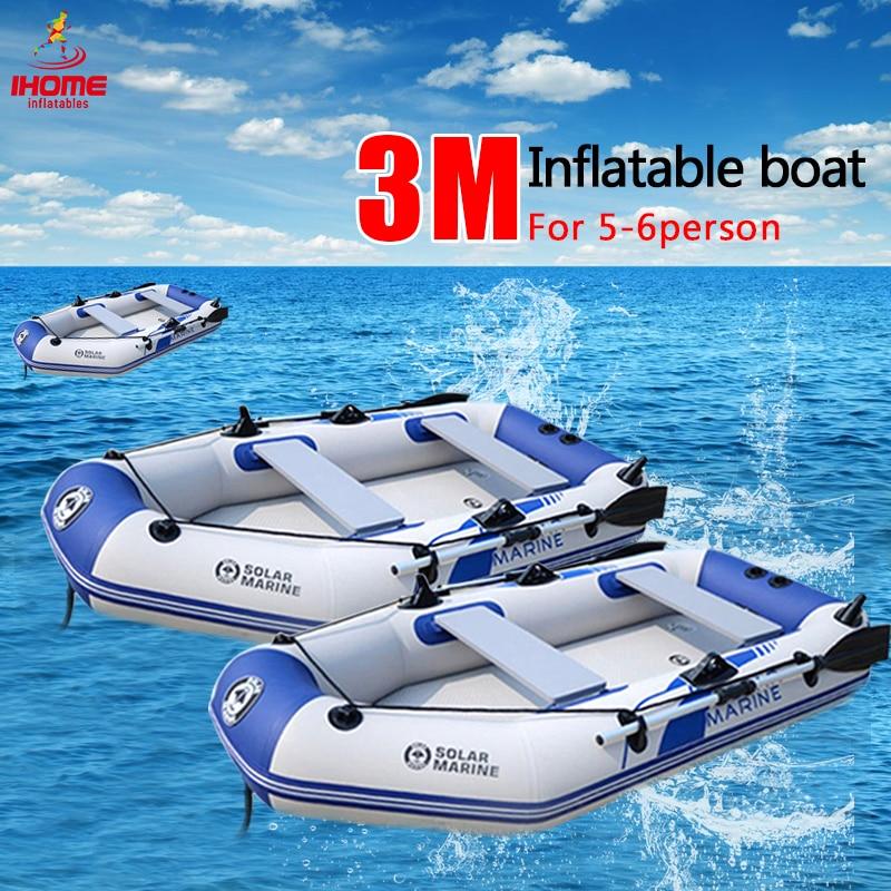Профессиональная надувная лодка для Каяка, 3 м, ламинированная, износостойкая, для 4 5 человек inflatable kayak boat inflatableinflatable boat   АлиЭкспресс