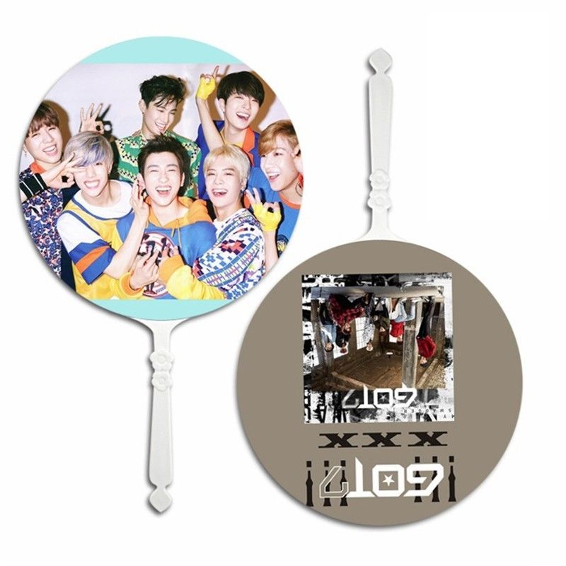 Jewelry & Accessories 2019 Latest Design Kpop Got7 Eyes On You Mini Portable Transparent Pvc Hand Holder Fan Summer Mark Jackson Yugyeom Gift Beads & Jewelry Making
