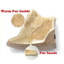 MCCKLE Woman Winter Ankle Snow Boots Classic Warm Plush Fur Suede Insole High Quality Lace Up Shoes Female Botas Plus Size 34-42