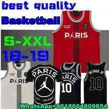 797c36019b2 New 2019 PSG Paris Jersey 23 Michael JD 10 NEYMAY JR 7 MBAPPE Paris  Basketball Jerseys