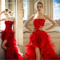 free shipping casamento new fashionable beading romantic sexy vestido de novia long red ball wedding Dress 2016 bridal gown