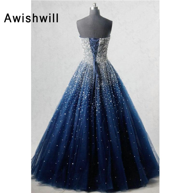 Real Photo A-line Strapless Sleeveless Elegant Evening Dress Beadings African Formal Dress Navy Blue Women Long Prom Dresses