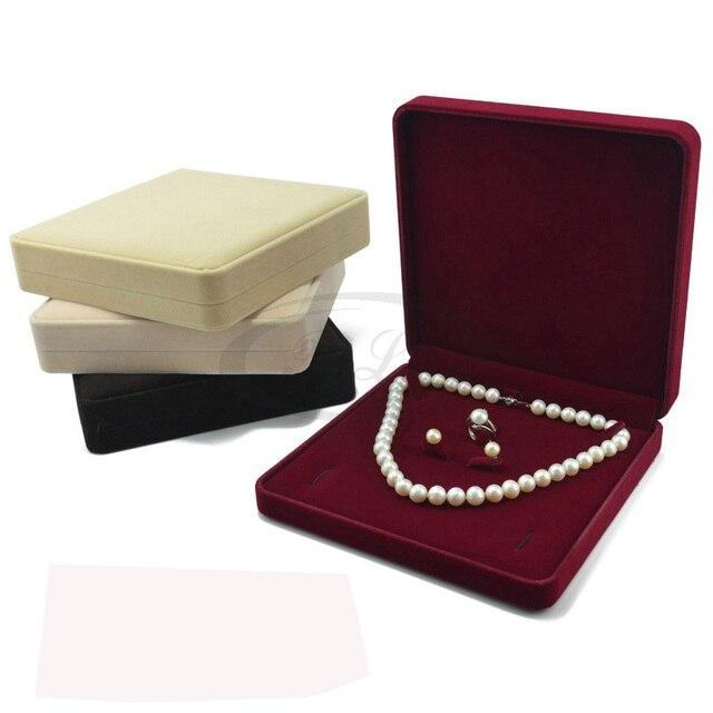 2016 Promotion Jewelry Organizer 19x19x4cm Color Velvet Jewelry Set