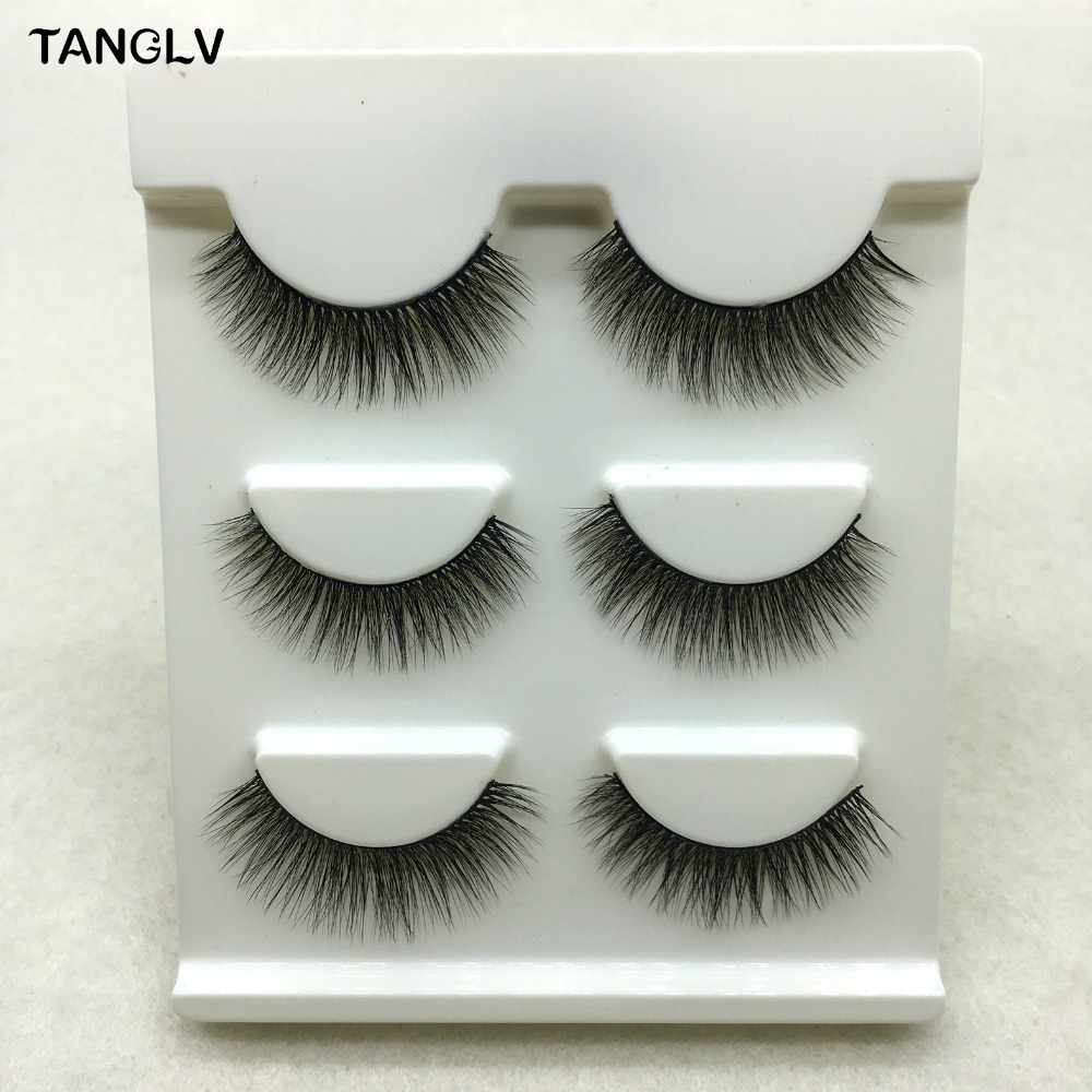 New 3 pairs natural false eyelashes fake lashes long makeup 3d mink lashes extension eyelash mink eyelashes for beauty 3D-150