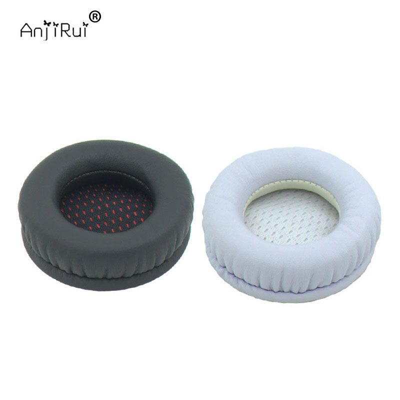 Black white protein skin memory cotton thickening 80MM headset sets sponge sets  ear pads Headphone Pillow Replacement Earpiece