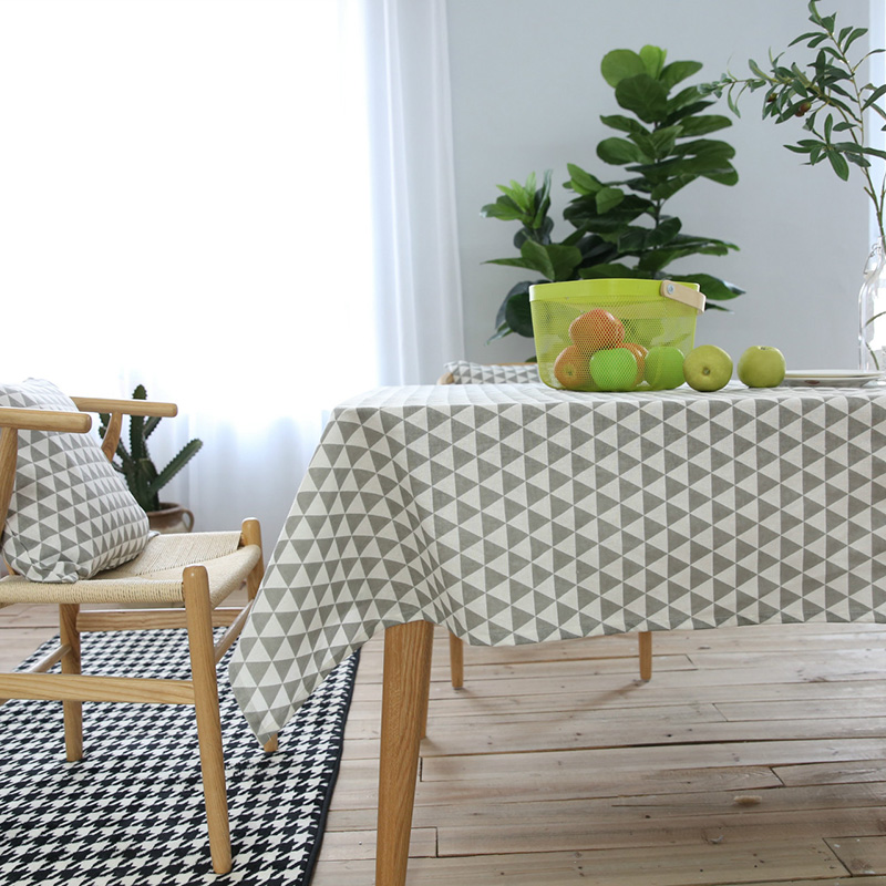 Geometric Modern Style Table Cloth Cotton Linen Tablecloths Rectangle  Kitchen Coffee Table Cover 7 Sizes Available In Tablecloths From Home U0026  Garden On ...