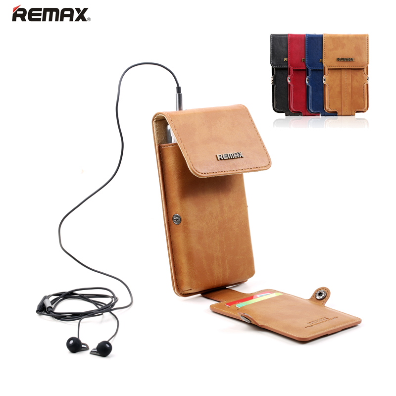 Universal Mobile Phone Case Pouch Single Shoulder Bag Waist Pack Card Slot Luxury PU Leather for