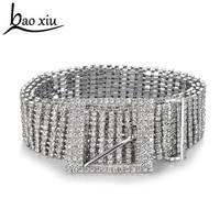New Metal Chain Belts Women S Diamante Crystal Chain Belt Full Rhinestone Bride Wide Bling Female