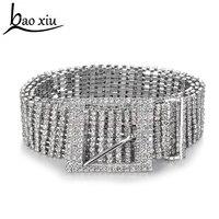 Nuova catena di metallo cinture donna Diamante di cristallo Catena Cintura accessori Pieno di Strass sposa Cinghia di Vita larga Bling di Cristallo Femminile