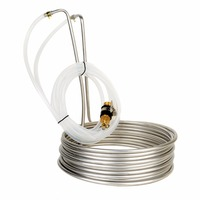Mayitr Stainless Steel Immersion Wort Chiller Cooler Elevated Coils Home Brew Beer With 2m Silicone Tubing