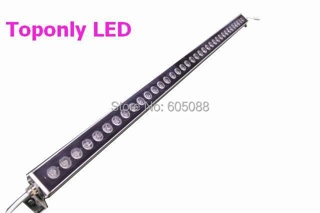 45w DC24v 1m linear outdoor led wall washer bar lighting with 36pcs 1w Edison high power leds R/G/B/W/Y/RGB colors available