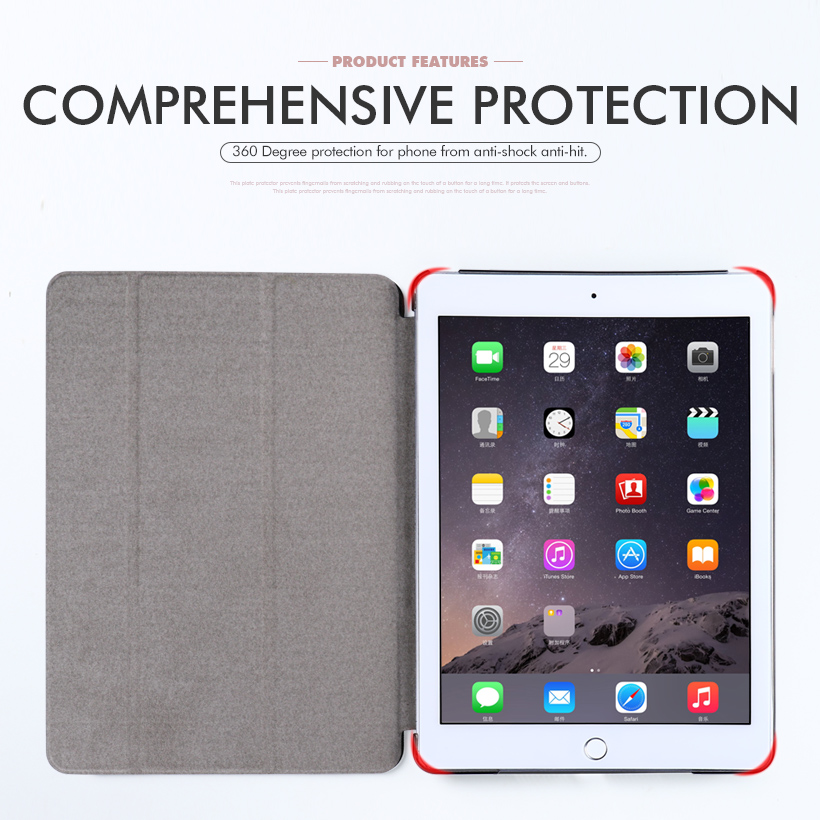 Hard Case For iPadPro 10 5 inch Tablet Case PU Leather Stand Smart Cover For Apple iPadPro 10 5 inch Cover Back Coque Housing in Fitted Cases from Cellphones Telecommunications