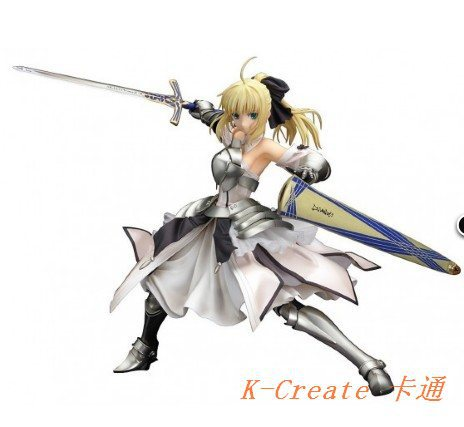 ФОТО Promotional sell 1pcs Japana anime pvc Fate/Stay Night Saber Lily action figure toys tall 23cm.