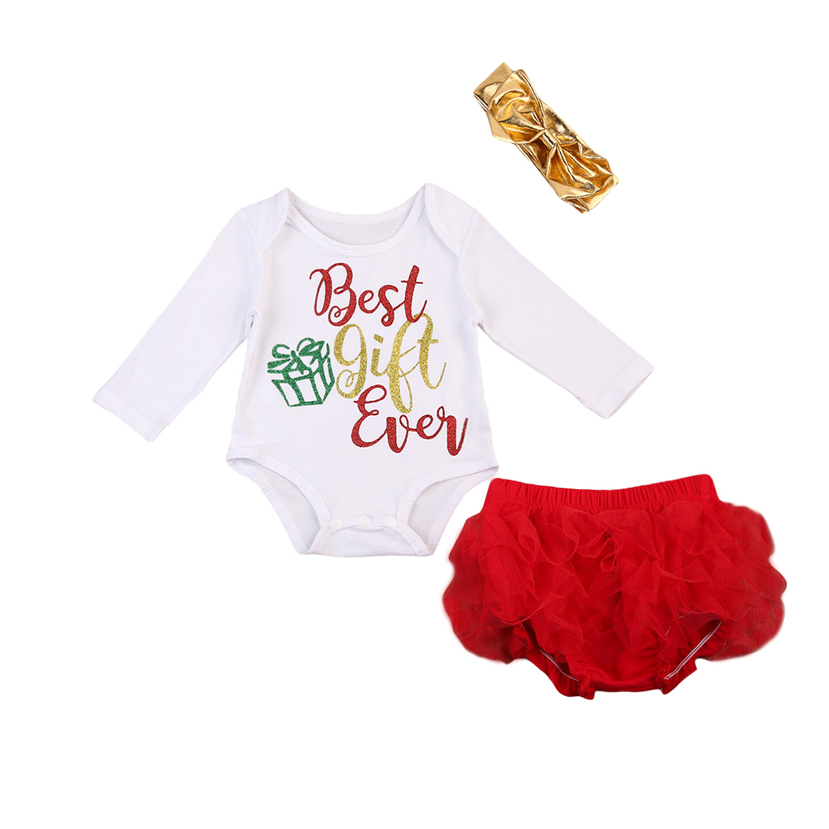 Pudcoco Lovely Baby Christmas Clothes Sets Newborn Baby Girls Gift ...